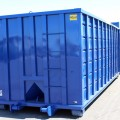 Rectangular Roll-Off Container Front View