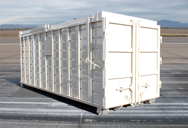 Rectangular Roll-Off Container with Rolling Lid